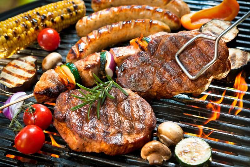 BBQ arrangement